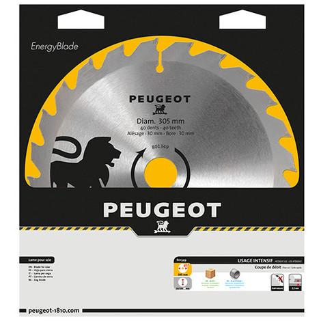 """main image of """"Lame carbure pour scie circulaire D. 305 x 30 mm x Z 40 - Bois - 801349 - Peugeot"""""""