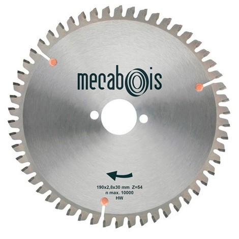 Lame carbure UNIVERSELLE D. 150 x 2,8 x 20 mm Z 42 TP Nég. - Aluminium/Bois clouté/Panneaux - 280020 - Sidamo
