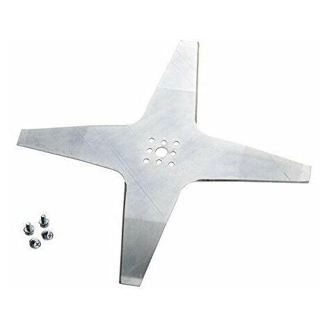 Lame courbée robot tondeuse 4 dents diamètre 24cm AMBROGIO - WIPER 50D001802