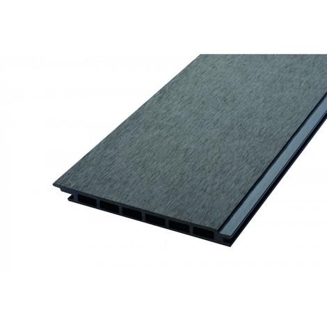 Lame de bardage bois composite alvéolaire L 270 cm / l 17,1 cm / E 1, 5 cm