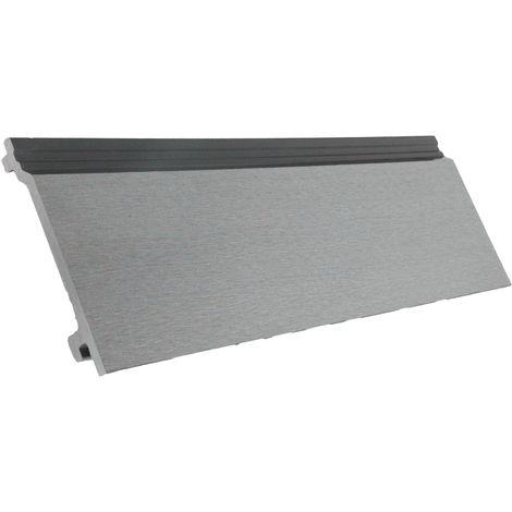 Lame bardage composite gris 2.60 m aspect contemporain Gris