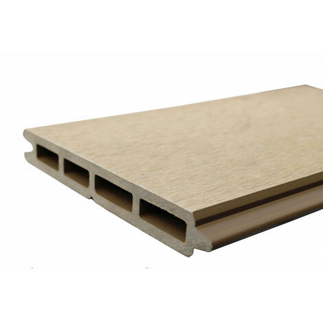 Lame de clôture bois composite L 148 cm / l 15.6 cm / E 19 mm - Coloris - Beige clair, Epaisseur - 19 mm, Largeur - 15.6 cm, Longueur - 148 cm