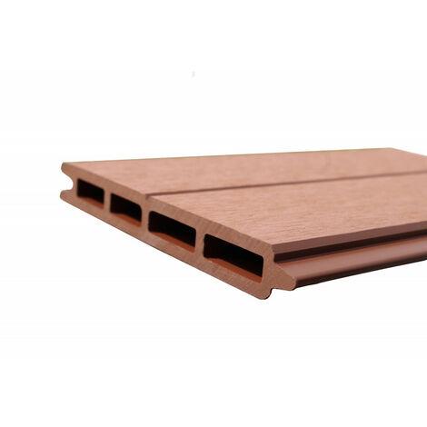 lame de cl ture bois composite l 148 cm l 15 6 cm e 19. Black Bedroom Furniture Sets. Home Design Ideas