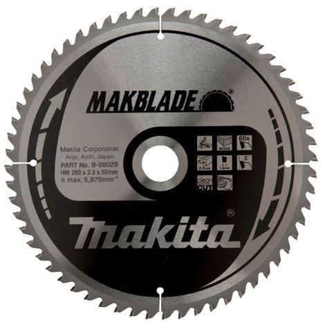 Lame de scie à onglet - Ø 260 mm - 60 dents - Makblade - Makita