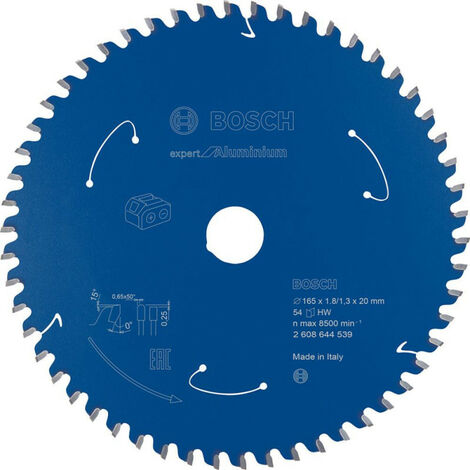 Lame de scie circulaire 165x1.8/1.3x20 Z54 BoschExpert for Alu