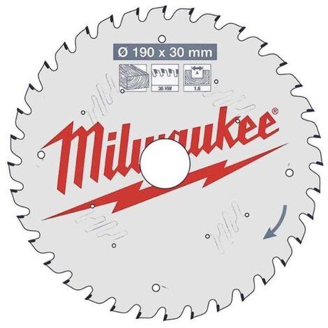 Lame de scie circulaire 190x30x1.6 36 dents Milwaukee
