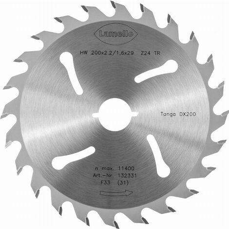 Lame de scie circulaire Ø200 x 2.4 x 22 mm LAMELLO - Métal dur Z24 - Prof.68 mm - Pour fenêtre bois - 132323