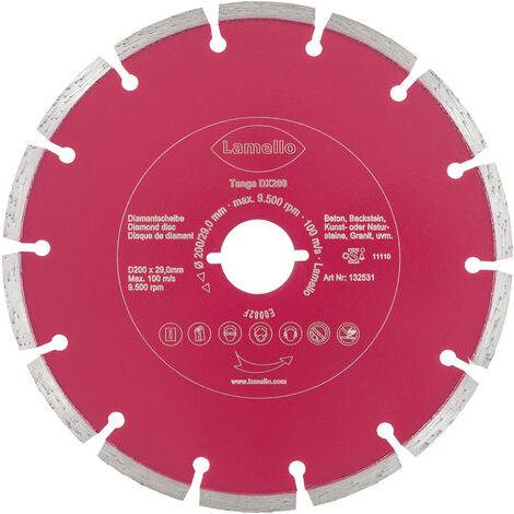 Lame de scie circulaire Ø200 x 2.4 x 29 mm LAMELLO - Métal dur Z24 - Prof.70 mm - Pour béton-brique - 132531