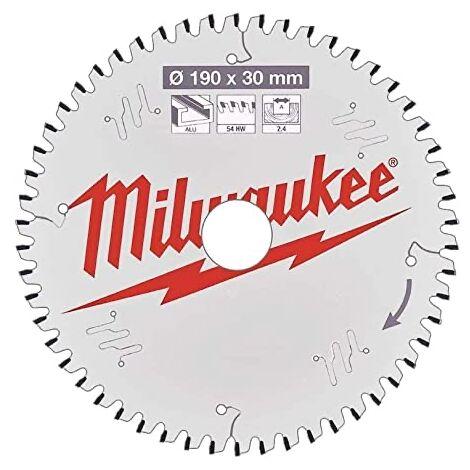 Lame de scie circulaire Alu 190x30x2.4 54 dents Milwaukee