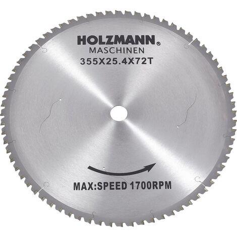 Lame de scie circulaire au carbure Holzmann Maschinen MKS355SB 355 x 25.4 mm Nombre de dents: 72 1 pc(s)