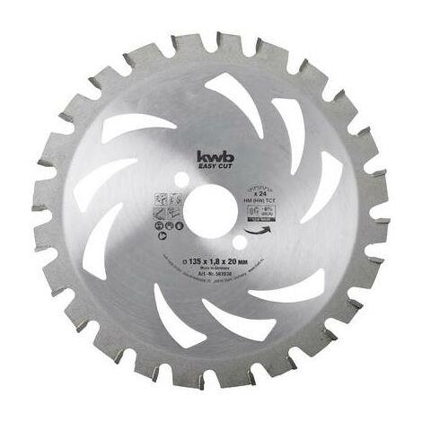 Lame de scie circulaire au carbure kwb 583338 150 x 16 x 1.2 mm Nombre de dents: 24 1 pc(s)