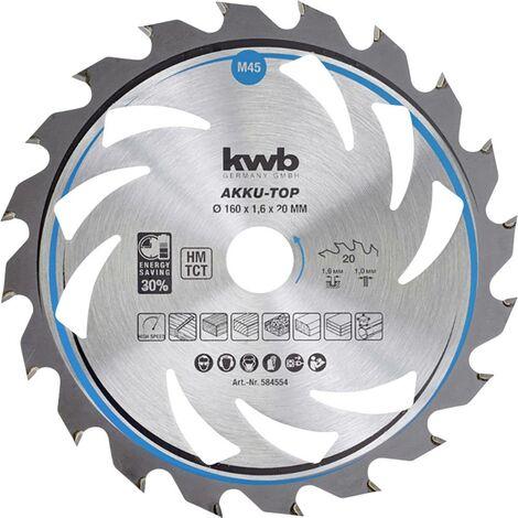 Lame de scie circulaire au carbure kwb 583354 150 x 16 x 1.0 mm Nombre de dents: 20 1 pc(s)