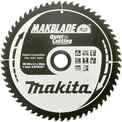 Lame de scie circulaire au carbure Makita MAKBLADE B-32487 260 x 30 x 1.8 mm Nombre de dents: 40 1 pc(s) W060901