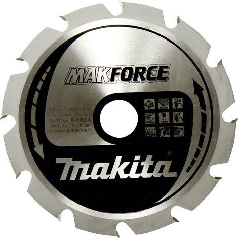 Lame de scie circulaire au carbure Makita MAKFORCE B-32247 190 x 30 x 1.4 mm Nombre de dents: 24 1 pc(s) W060271