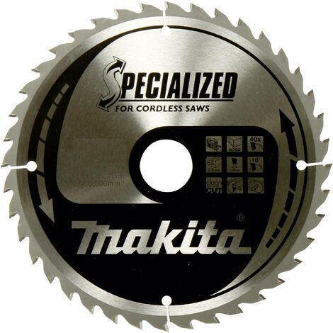 Lame de scie circulaire au carbure Makita SPECIALIZED B-32910 165 x 20 x 1 mm Nombre de dents: 24 1 pc(s) W060921