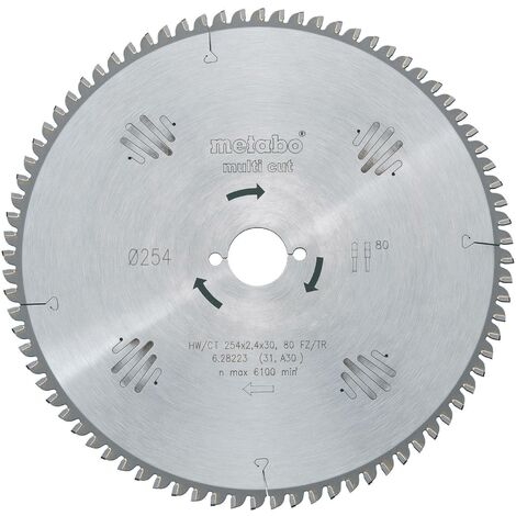 "Lame de scie circulaire au carbure ""multi cut"" HW/CT 216x30 60 FZ/TR5 C51265"