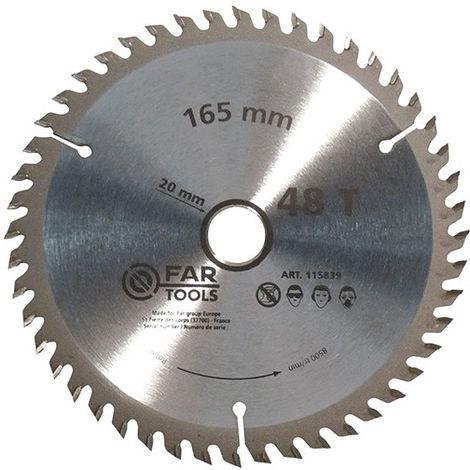 Lame de scie circulaire bois D. 165 x Al. 20 mm x 48 dents - -