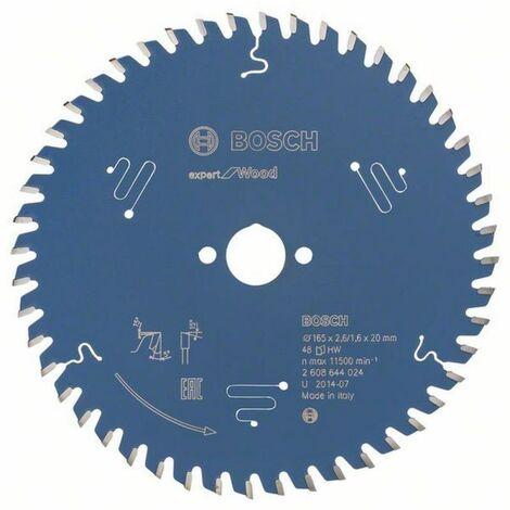 Lame de scie circulaire BOSCH expert Wood Ø165 MM - 2608644024 EP.2.6 AL.20 Z.48 ALT