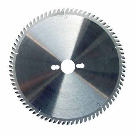 Lame de scie circulaire carbure dia 255 mm - 80 dents pour l'aluminium