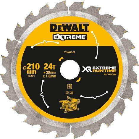 Lame de scie circulaire DeWalt, DT99565 XR Extreme Runtime 24Z 210/30 mm