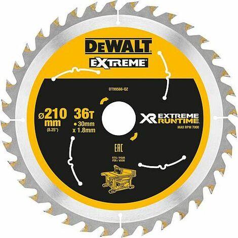 Lame de scie circulaire DeWalt, DT99566 XR Extreme Runtime 36Z 210/30 mm
