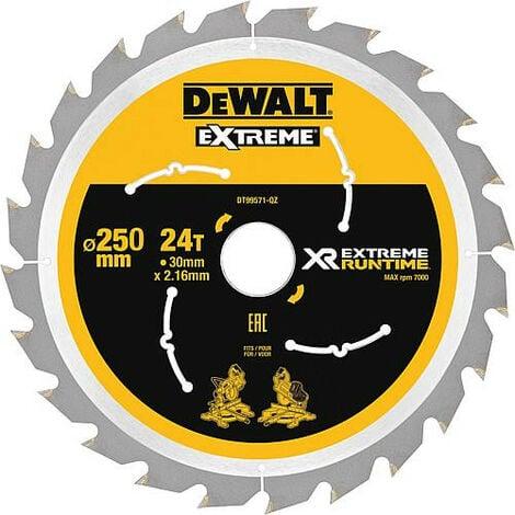 Lame de scie circulaire DeWalt, DT99571 XR Extreme Runtime 24Z 250/30mm