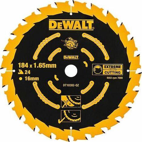 Lame de scie circulaire DeWalt Extreme, ø 184 x 1,65 x 16 mm
