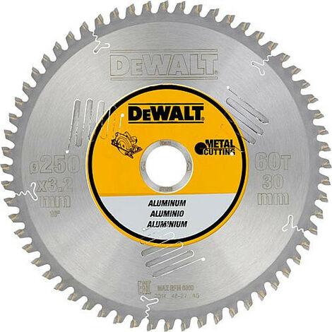 Lame de scie circulaire diam. 250 x 30 mm + 60 dents trapezes pour DeWalt DW743N/DW745