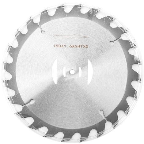 Lame De Scie Circulaire En Metal Pour Tondeuse A Gazon De 6 Po, 150 Mm, 24 Dents