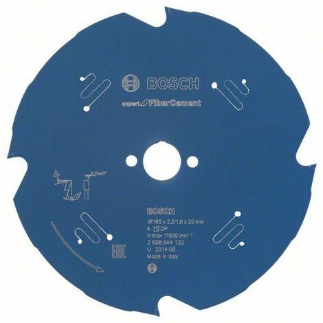 Lame de scie circulaire Expert for Fiber Cement Ø20mm - 165 x 20 x 2,2 mm, 4 - 2 608 644 122