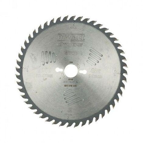Lame de scie circulaire extreme diam. 250 x 30 mm, +48 dents alternes pour DeWalt DW743N/DW745