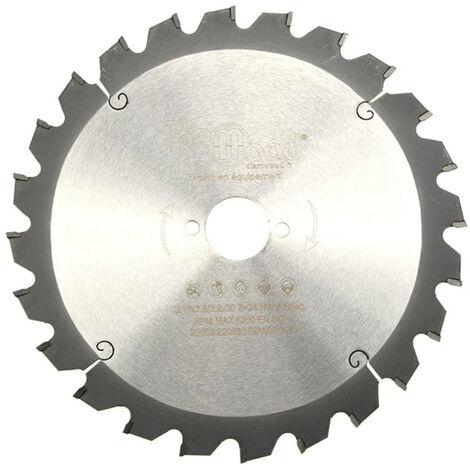 Lame de scie circulaire HM débit D. 216 x Al. 30 x ép. 2,8/1,8 mm x Z24 Alt nég pour bois - Diamwood