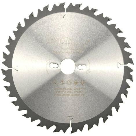 Lame de scie circulaire HM débit D. 250 x Al. 30 x ép. 3,2/2,2 mm x Z24 Alt + AR pour bois - Diamwood