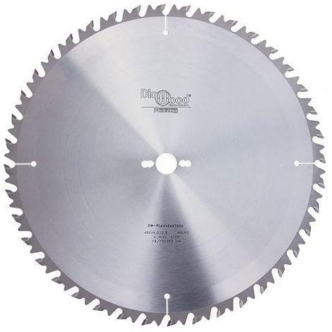 Lame de scie circulaire HM débit D. 450 x Al. 30 x ép. 4,0 mm x Z40 Alt + AR - Diamwood Platinum - -
