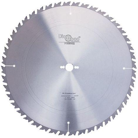 Lame de scie circulaire HM débit D. 500 x Al. 30 x ép. 4,0 mm x Z44 Alt + AR - Diamwood Platinum - -