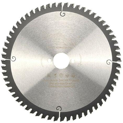 Lame de scie circulaire HM finition D. 216 x Al. 30 x ép. 2,8/2,0 mm x Z60 TP Neg pour Alu/bois - Diamwood