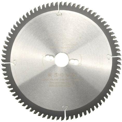 Lame de scie circulaire HM finition D. 250 x Al. 30 x ép. 3,2/2,5 mm x Z80 TP Neg pour Alu/bois - Diamwood