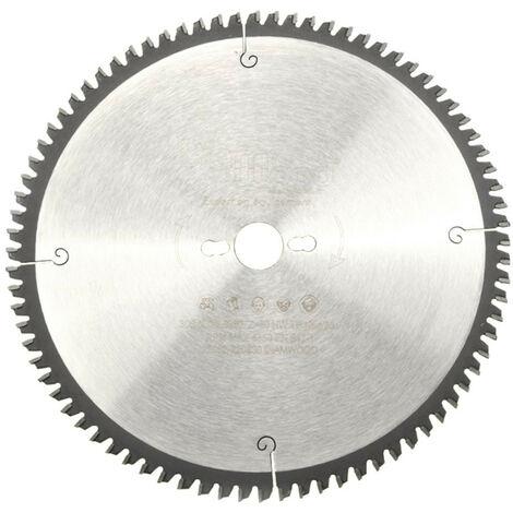 Lame de scie circulaire HM finition D. 305 x Al. 30 x ép. 2,6/2,0 mm x Z80 TP Neg pour Alu/bois - Diamwood