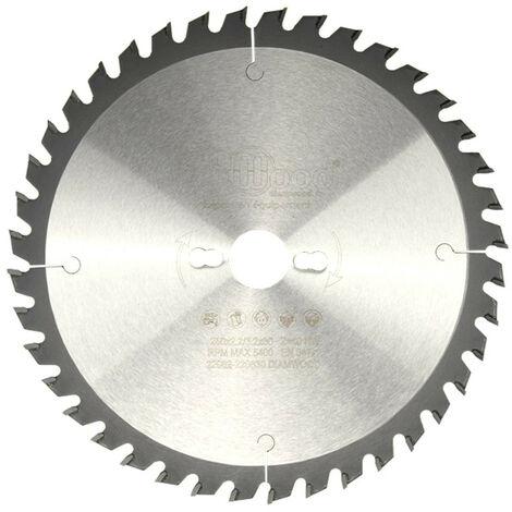 Lame de scie circulaire HM universelle D. 250 x Al. 30 x ép. 3,2/2,2 mm x Z40 Alt pour bois - Diamwood
