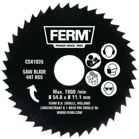 Lame de scie circulaire HSS Ferm 44HSS CSA1035 54.8 x 11.1 mm Nombre de dents: 44 1 pc(s)