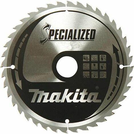 Lame de scie circulaire MAKITA ø 165 x 20 mm, pour bois et aluminium