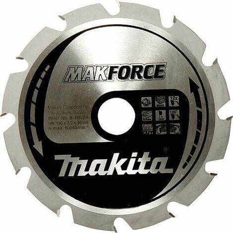 Lame de scie circulaire MAKITA ø 190 x 30 mm, pour coupes longitudinales et transversales dans le bois