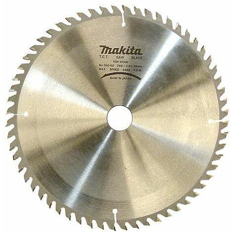 Lame de scie circulaire MAKITA ø 260 x 30 mm, pour bois
