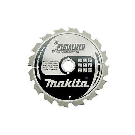 Lame de scie circulaire MAKITA - démolition - Ø210 mm - 14 dents - B-27246