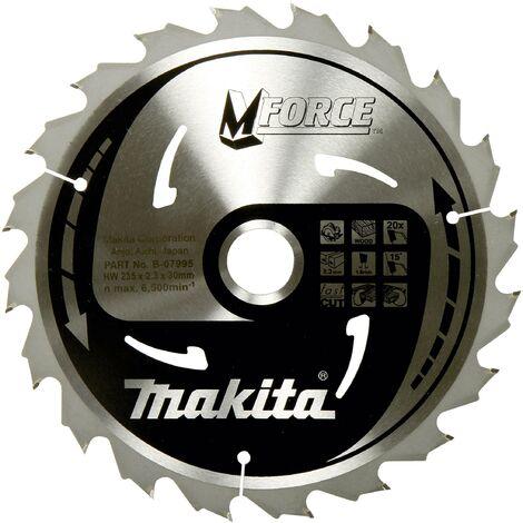 Lame de scie circulaire Makita M-FORCE B-32007 165 x 20 x 1.2 mm Nombre de dents: 24 1 pc(s) W060951