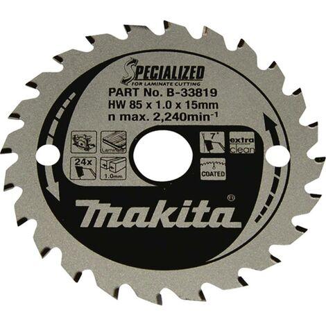 Lame de scie circulaire Makita SPECIALIZED B-33819 85 x 15 x 1.0 mm Nombre de dents: 24 1 pc(s)