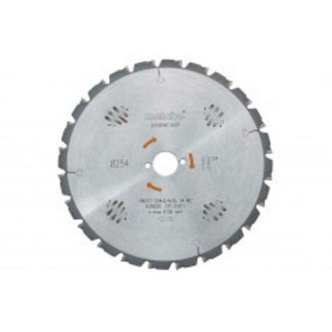 Lame de scie circulaire Metabo 628025000 254 mm 1 pc(s)