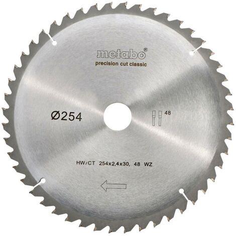 Lame de scie circulaire Metabo 628061000 254 mm 1 pc(s)