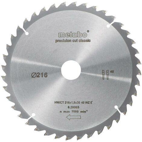 Lame de scie circulaire Metabo 628065000 216 mm 1 pc(s)