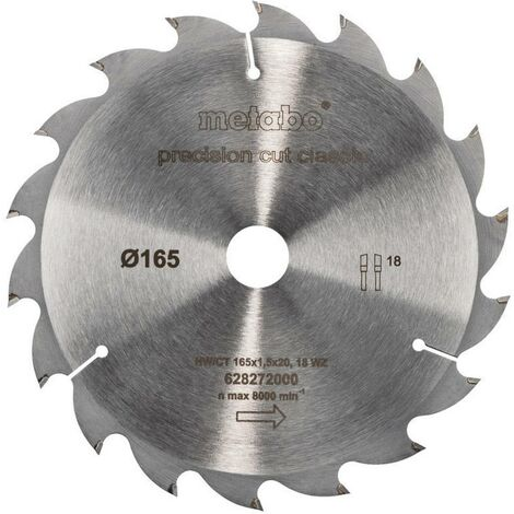 Lame de scie circulaire Metabo 628272000 165 mm 1 pc(s)
